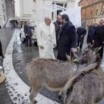 Anes offerts au pape